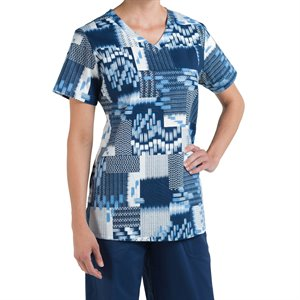 Multi Blue Nurse Mates Maci Top