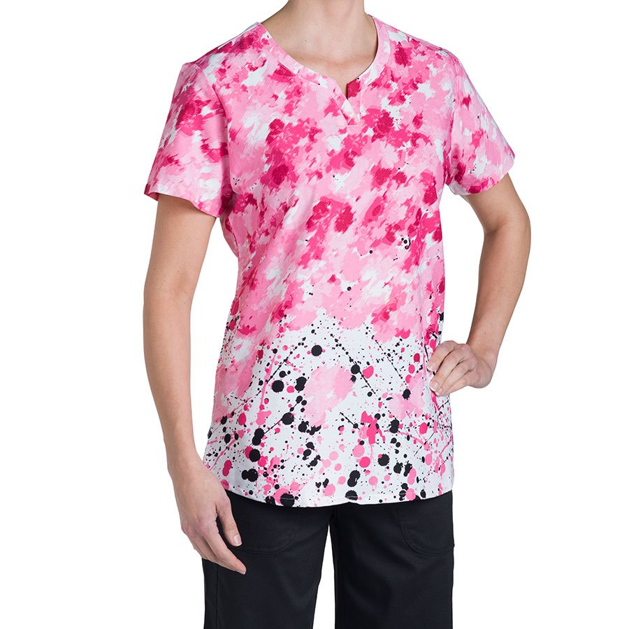 Nurse Mates Nina Print Top : Multi Pink - Specials