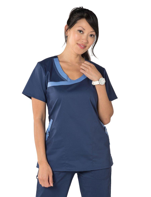 Nurse Mates Oliva Top : Navy Ceil - Specials