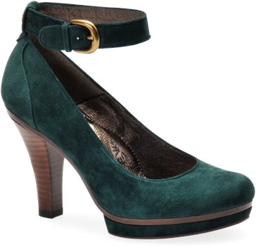 Emerald Green Suede Sofft Manhattan