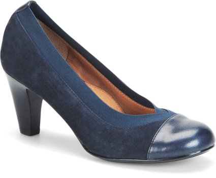 Winter Blue Suede/Navy Sofft Oksana