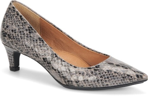 Grey Black Snake Print Sofft Altessa
