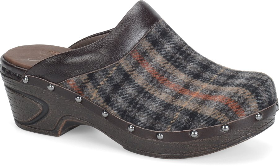Sofft Bellrose : Brown-Coffee Plaid Fabric - Womens