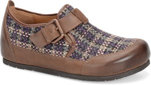 Purple Plaid Wool-Drum Brown Sofft Bailee
