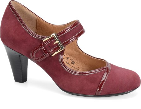 Bordo Red Suede Sofft Omarosa