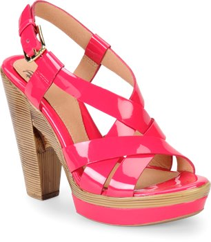 Neon Pink Patent Sofft Velia