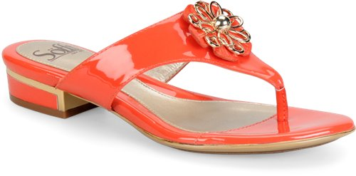Red Tangerine Patent Sofft Bernelle