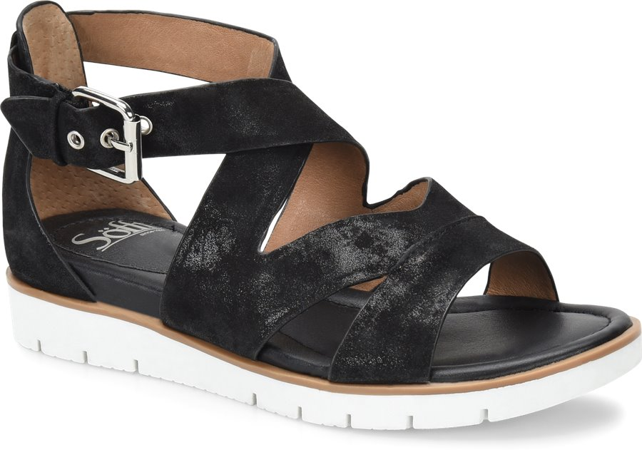 Sofft Mirabelle : Black Suede - Womens