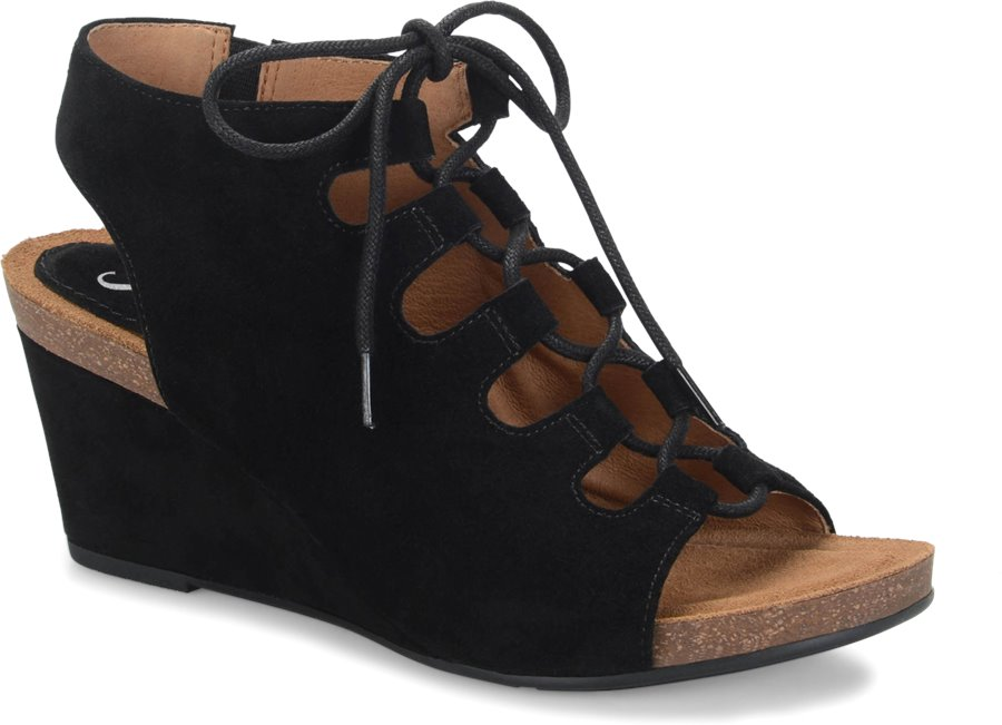 Sofft Maize : Black Suede - Womens
