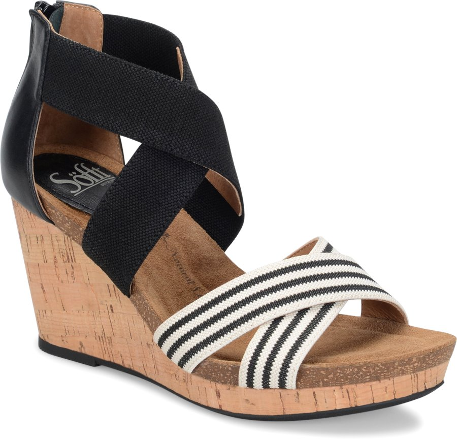Sofft Cary : Black White - Womens