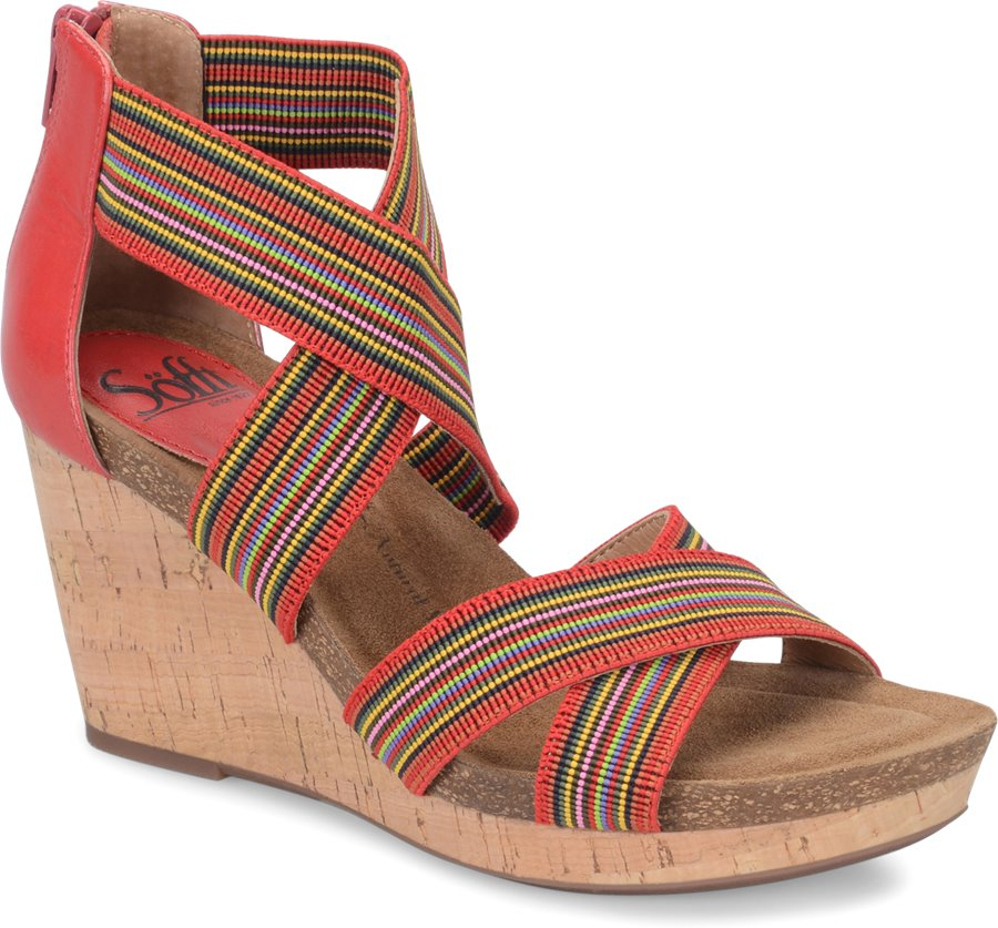 Sofft Cary : Fire Red/Red Multi - Womens
