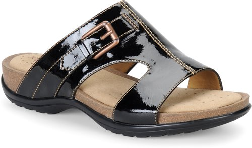 Black Crinkle Patent Softspots Caileen