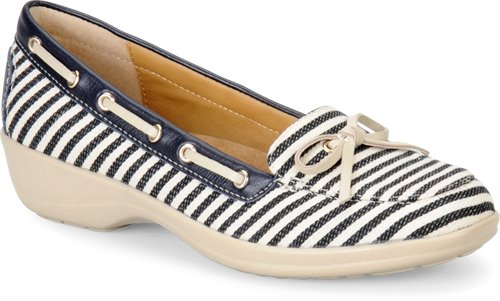 Navy/Cream Stripes Softspots Ally