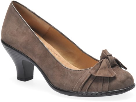 Taupe Grey Suede Softspots Samantha