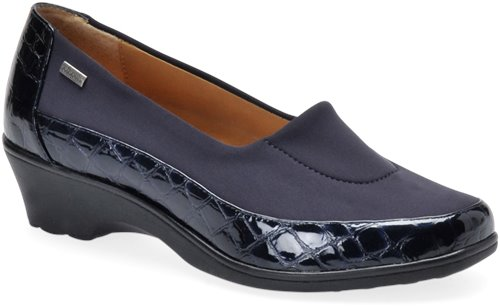 Navy Croco Patent Softspots Sissel