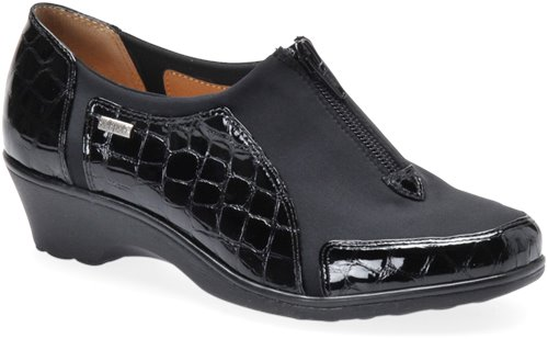 Black Croco Patent Softspots Sparks