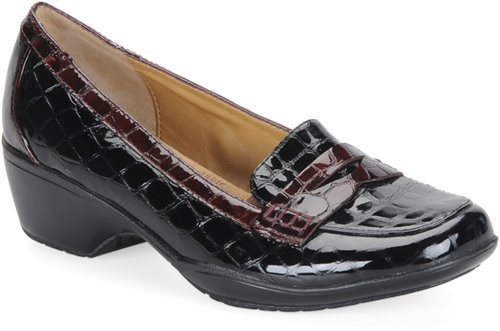 Black/Brown Croco Patent Softspots Maven