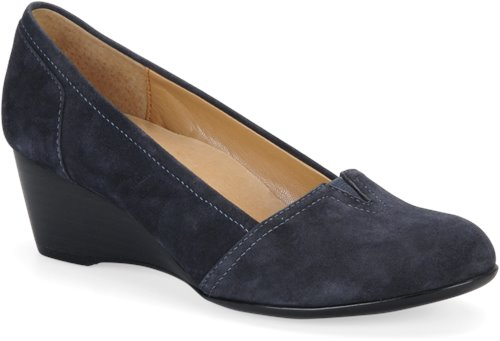Winter Blue Suede Softspots Marsha