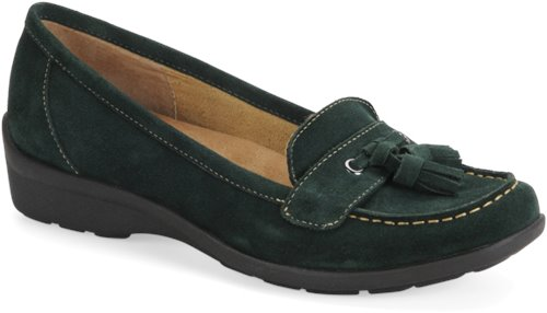 Verdent Green Suede Softspots Tanya