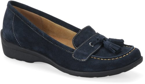Navy Suede Softspots Tanya