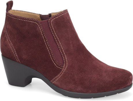 Bordeaux Red Suede Softspots Aadi
