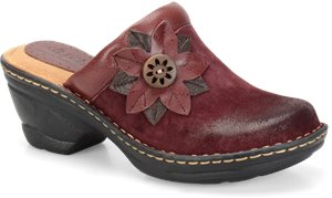 Bordeaux Red Suede Softspots Lara